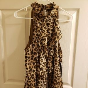 XL animal print New with tags tank/blouse